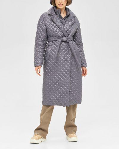 Стеганое пальто свободного кроя на кнопках Mila Nova