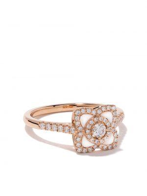 Кольцо с бриллиантом - розовое De Beers