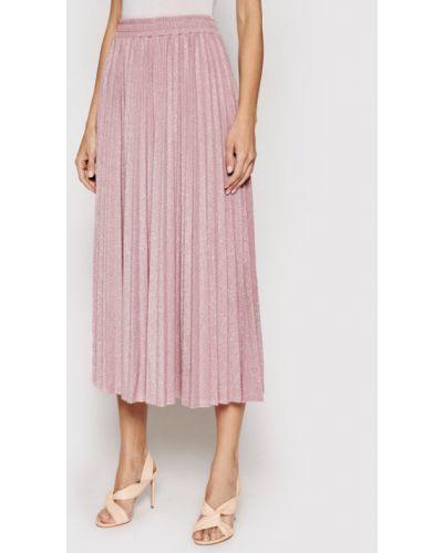 Różowa spódnica plisowana Guess