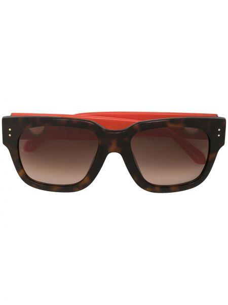 Прямые желтые солнцезащитные очки квадратные Linda Farrow