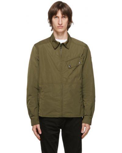 Długa kurtka z długimi rękawami z kołnierzem z łatami z mankietami Belstaff