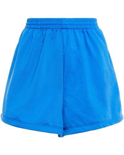Флисовые синие шорты с карманами Adidas Originals