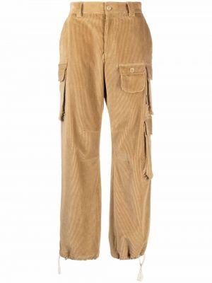 Spodnie sztruksowe - beżowe Palm Angels