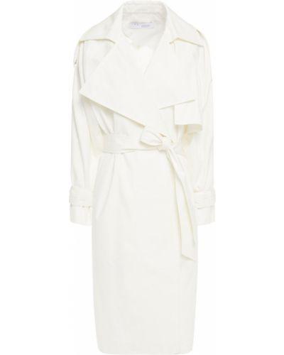 Biały płaszcz z klamrą bawełniany Iro