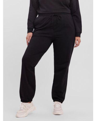 Czarne spodnie dresowe Vero Moda Curve