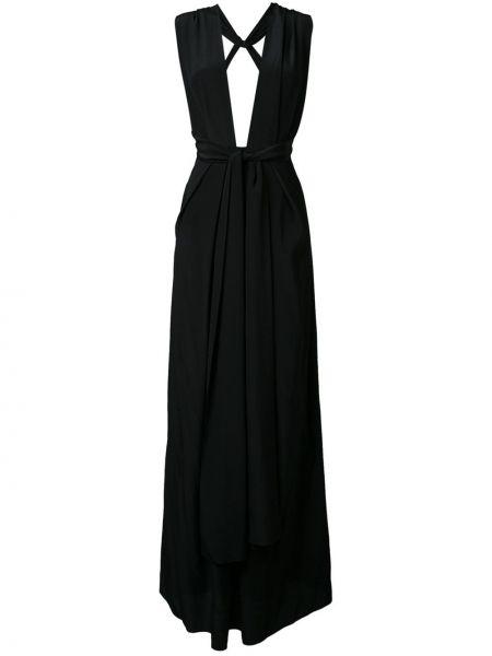 Шелковое черное вечернее платье Bianca Spender