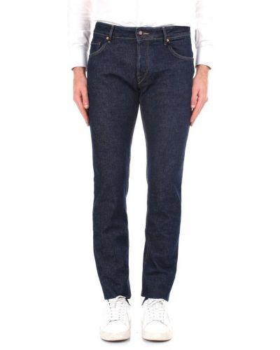 Niebieskie jeansy slim Hand Picked