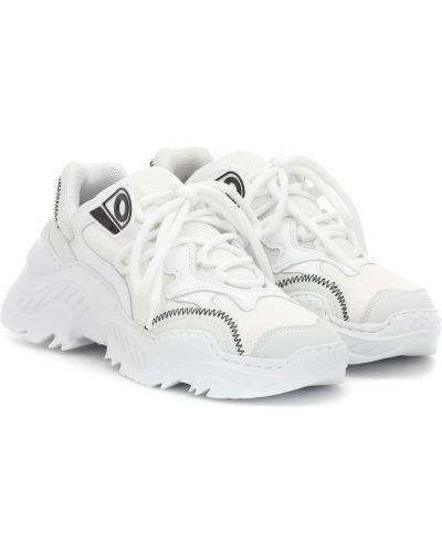Кожаные кроссовки винтажные белый N21