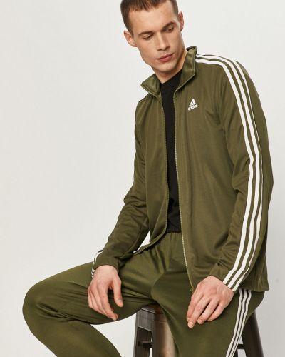 Zielony dres dzianinowy Adidas Performance