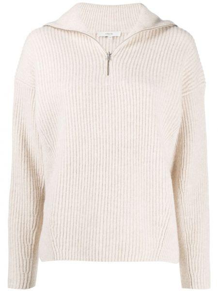 С рукавами шерстяной белый прямой пуловер Vince.