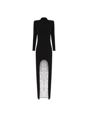Черное вечернее платье с воротником-стойка Tom Ford