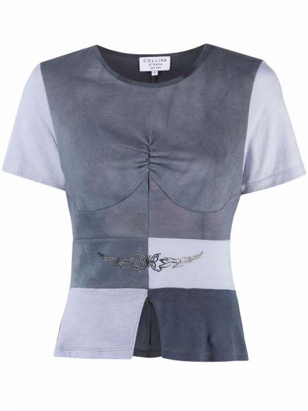 T-shirt bawełniana - czarna Collina Strada