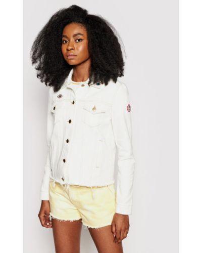 Biała kurtka jeansowa Femi Stories