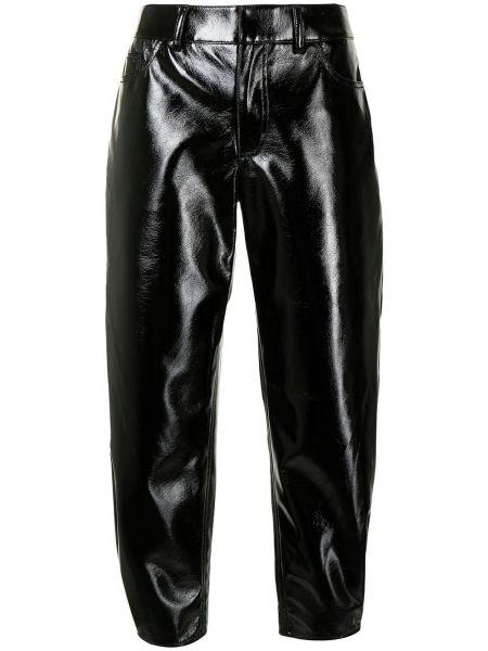 Czarne spodnie z paskiem Tibi
