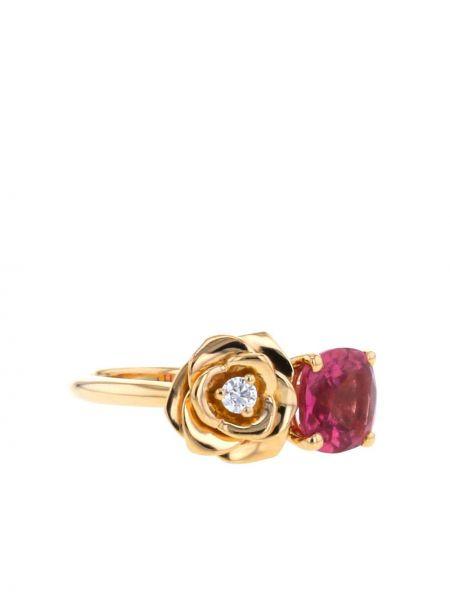 Różowy złoty pierścionek z diamentem Piaget