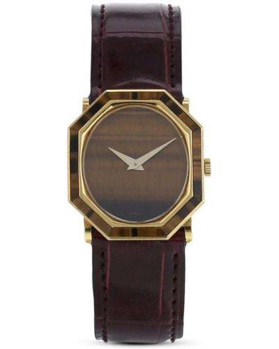 С ремешком кожаные часы на кожаном ремешке золотые Piaget