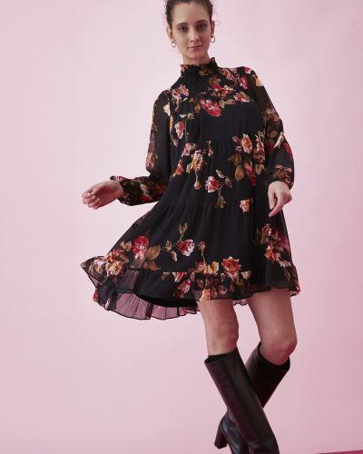 Платье свободного кроя - черное Iblues
