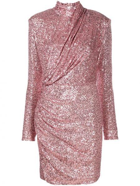 Розовое платье с запахом с пайетками на молнии Redemption