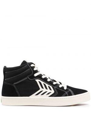 Czarne sneakersy koronkowe Cariuma