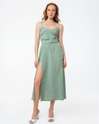 Платье в горошек с открытой спиной из штапеля Magnetic