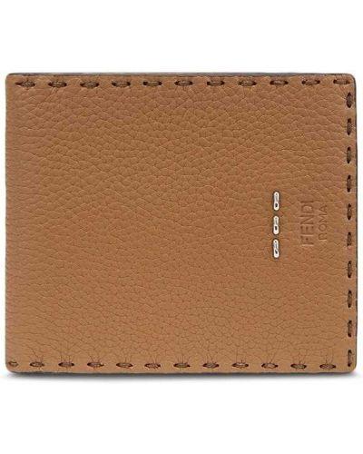 Brązowy portfel skórzany Fendi