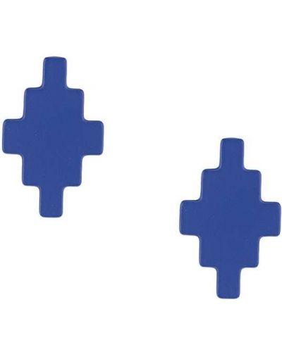 Синий крест металлический с подвесками Marcelo Burlon. County Of Milan