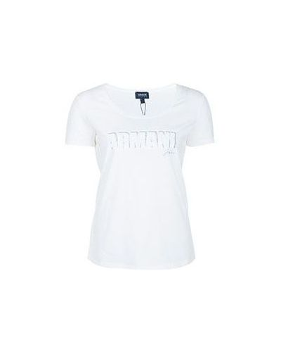 Белая хлопковая футболка Armani Jeans
