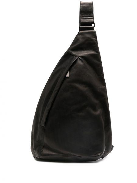 Czarny plecak skórzany Yohji Yamamoto