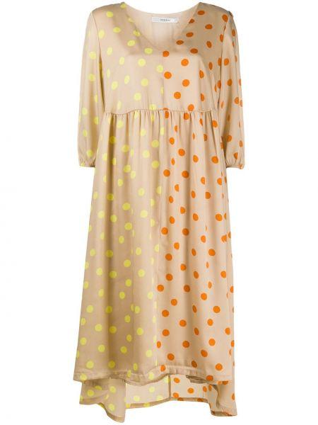 Платье миди с V-образным вырезом с рукавами Gestuz