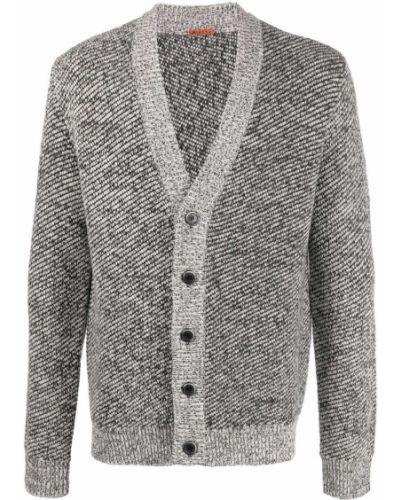 Czarny sweter z dekoltem w serek Barena
