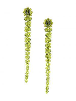 Зеленые серьги в бусинах Simone Rocha