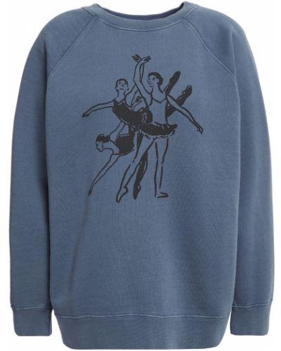Prążkowana niebieska bluza dresowa bawełniana Alexachung
