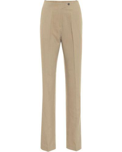 Расклешенные шерстяные бежевые брюки Petar Petrov