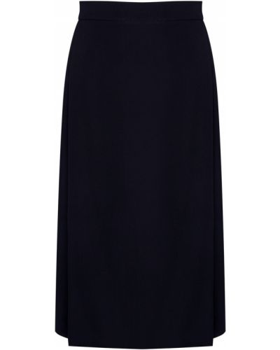 Шелковая плиссированная черная юбка Gareth Pugh