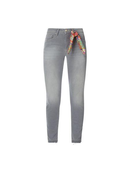 Niebieskie jeansy bawełniane z cekinami Lieblingsstück