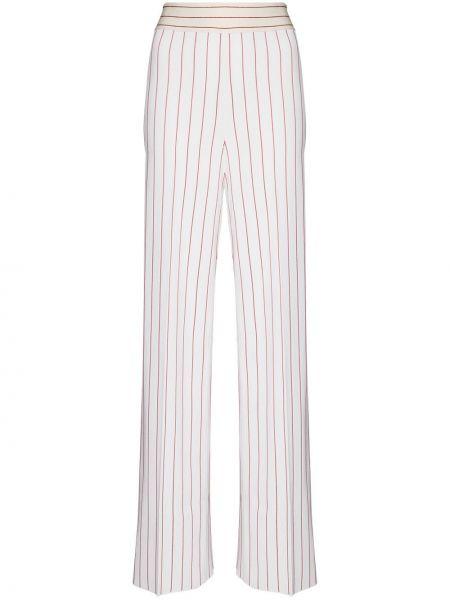 Biały garnitur z wysokim stanem z wiskozy Alled Martínez