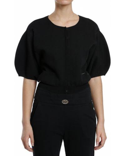 Хлопковая черная кофта Elisabetta Franchi