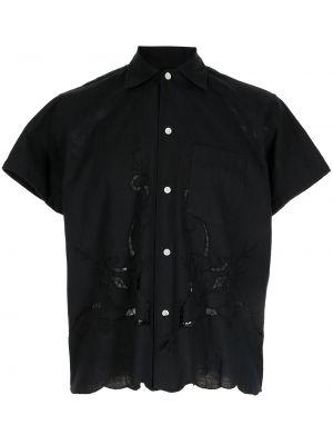Czarna koszula bawełniana Bode