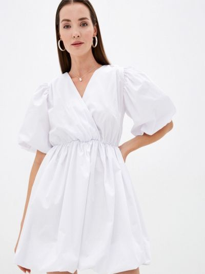 Белое платье осеннее Imocean