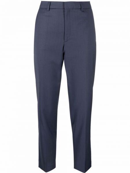 Spodnie z wysokim stanem z paskiem - niebieskie Filippa K