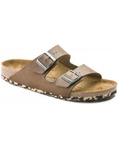 Sandały płaskie - brązowe Birkenstock
