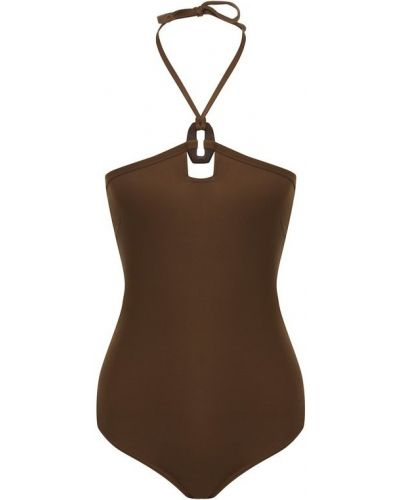 Слитный купальник коричневый Erika Cavallini