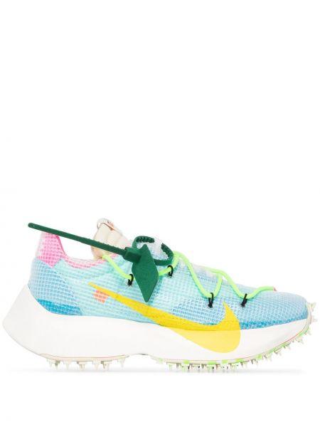 Niebieskie sneakersy sznurowane koronkowe Nike X Off White