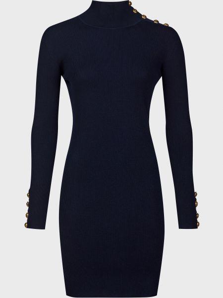 Шерстяное синее платье Pinko