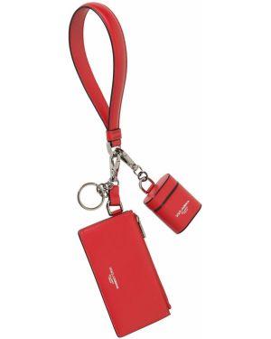 С ремешком кожаная ключница на крючках Dolce & Gabbana