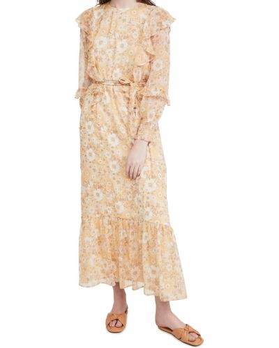 Шифоновое платье макси с длинными рукавами на резинке Minkpink