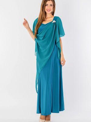 Вечернее платье бирюзовый осеннее Malena