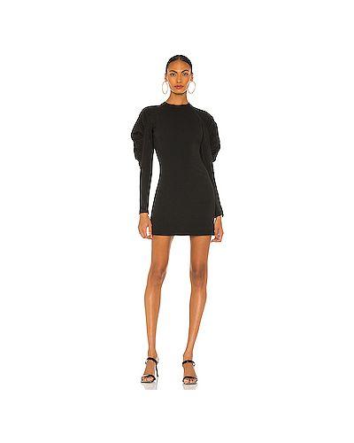 С рукавами черное платье на молнии из вискозы Rag & Bone
