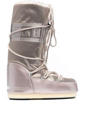 Водонепроницаемые коричневые сапоги на шнуровке Moon Boot