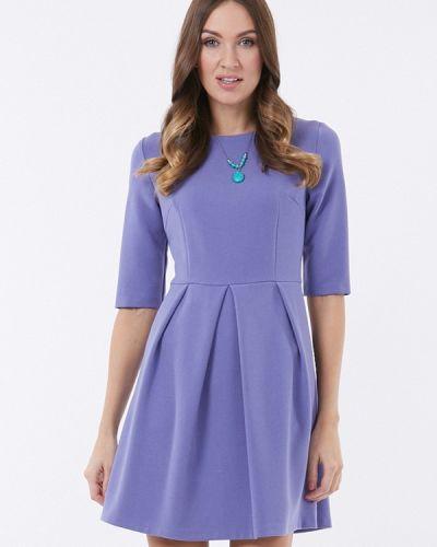 Фиолетовое платье осеннее Vladi Collection
